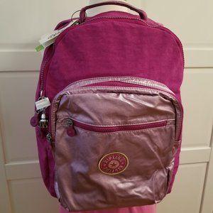 Kipling Seoul Large Laptop Metallic Backpack